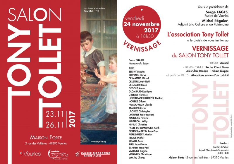 Invitation Salon Tony Tollet 2017