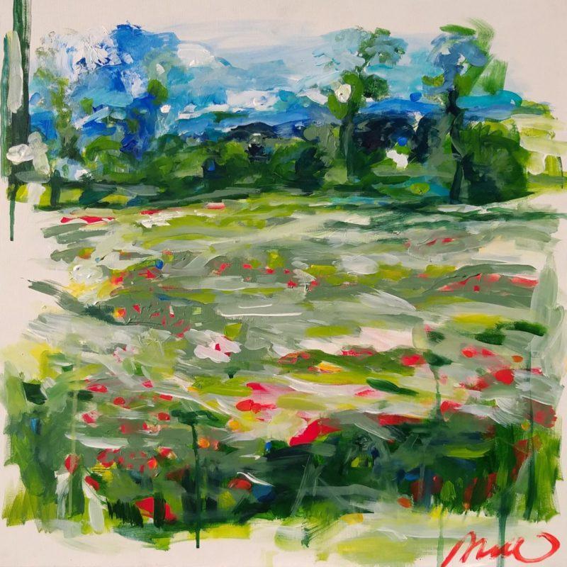 INTIMITE 2 , Aleth de ROMEMONT-PAULE, Marée Haute ,acrylique sur toile